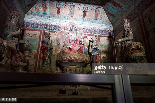 mogao caves, dunhuang, china - mogao caves stock pictures, royalty-free photos & images