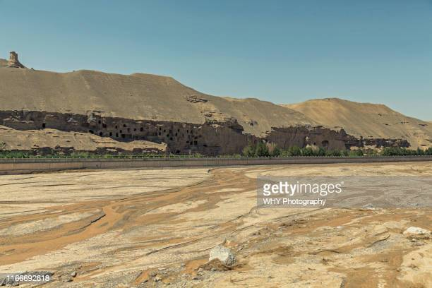 mogao caves - mogao caves stock pictures, royalty-free photos & images