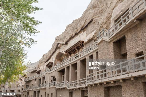 mogao grottoes in dunhuang, gansu province, china - mogao caves stock pictures, royalty-free photos & images