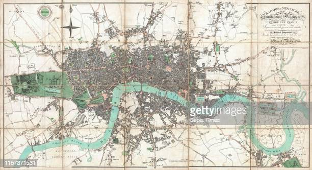 1806 Mogg Pocket or Case Map of London England