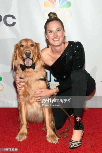 Mogley and Allysa Seely attend the 2019 Team USA Awards at Universal Studios Hollywood on November 19 2019 in Universal City California