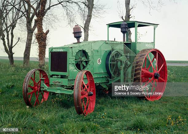 'Mogul' 12/25 hp agricultural tractor with a twocylinder horizontally opposed distillate/gasoline /kerosene 'round' head engine manufactured by the...
