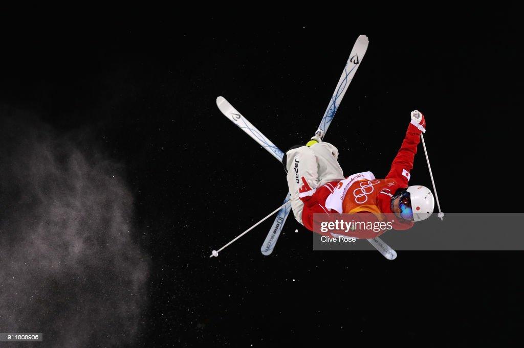 Mogul Skier Daichi Hara of Japan trains ahead of the PyeongChang 2018 Winter Olympic Games at Phoenix Park on February 6, 2018 in Pyeongchang-gun, South Korea.