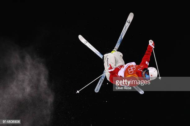 Mogul Skier Daichi Hara of Japan trains ahead of the PyeongChang 2018 Winter Olympic Games at Phoenix Park on February 6, 2018 in Pyeongchang-gun,...