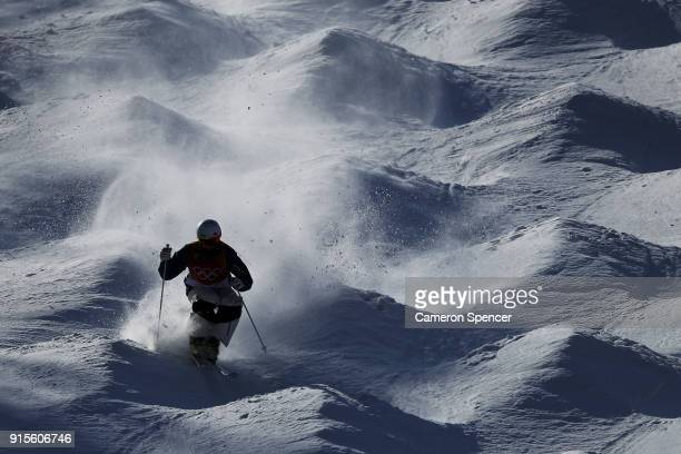Mogul Skier Matt Graham of Australia trains ahead of the PyeongChang 2018 Winter Olympic Games at Phoenix Park on February 8 2018 in Pyeongchanggun...