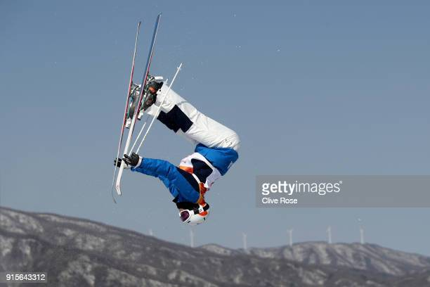 Mogul Skier Won Jee Seo of Korea trains ahead of the PyeongChang 2018 Winter Olympic Games at Phoenix Park on February 8 2018 in Pyeongchanggun South...