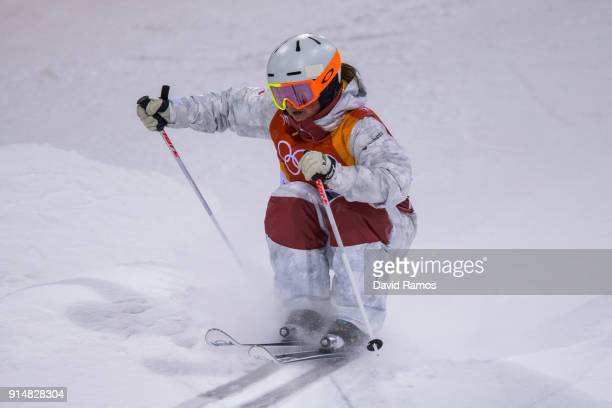 Moguls Skier Andi Naude of Canada trains ahead of the PyeongChang 2018 Winter Olympic Games at the Bokwang Phoenix Snow Park on February 6 2018 in...