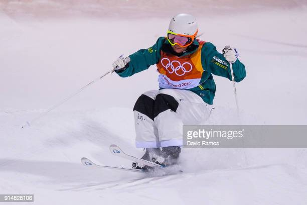 Moguls Skier Brittney Cox of Australia trains ahead of the PyeongChang 2018 Winter Olympic Games at the Bokwang Phoenix Snow Park on February 6 2018...