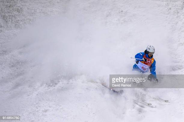 Moguls Skier Jung Hwa Seo of South Korea trains ahead of the PyeongChang 2018 Winter Olympic Games at the Bokwang Phoenix Snow Park on February 6...