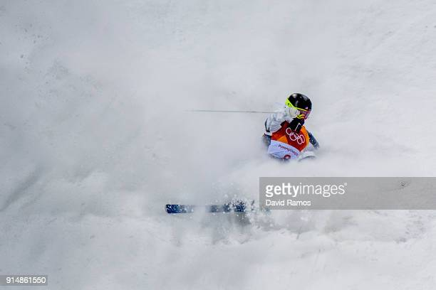 Moguls Skier Keaton McCargo of the United States trains ahead of the PyeongChang 2018 Winter Olympic Games at the Bokwang Phoenix Snow Park on...