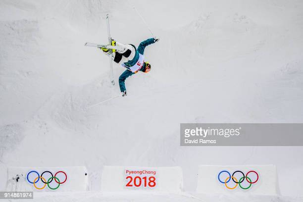 Moguls Skier Matt Graham of the Australia trains ahead of the PyeongChang 2018 Winter Olympic Games at the Bokwang Phoenix Snow Park on February 6...
