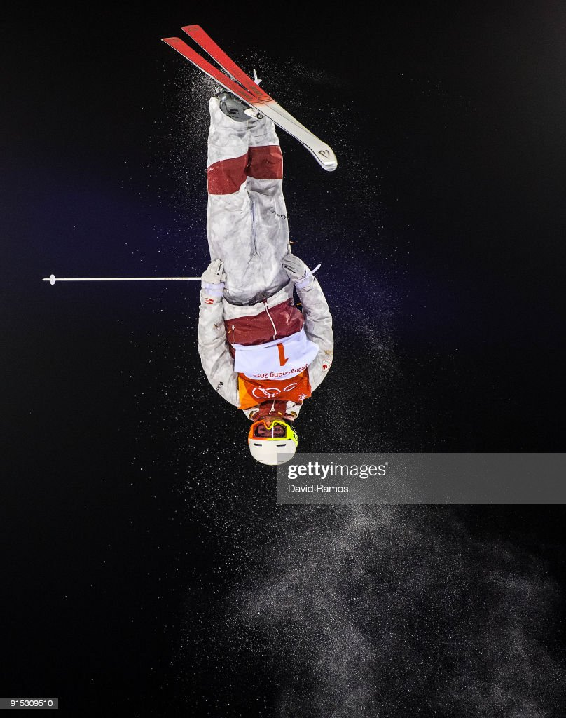 Moguls skier Mikael Kingsbury of Canada in action during training session ahead of the PyeongChang 2018 Winter Olympic Games at Bokwang Phoenix Snow Park on February 7, 2018 in Pyeongchang-gun, South Korea.