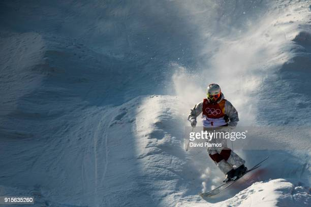 Moguls skier Mikael Kingsbury of Canada in action during training session ahead of the PyeongChang 2018 Winter Olympic Games at Bokwang Phoenix Snow...