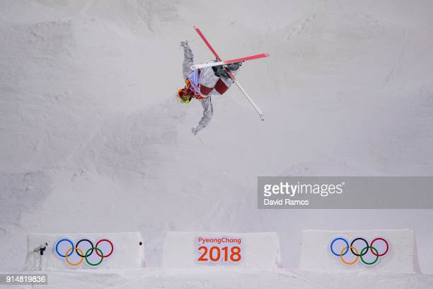 Moguls Skier Mikael Kingsbury of Canada trains ahead of the PyeongChang 2018 Winter Olympic Games at the Bokwang Phoenix Snow Park on February 6 2018...