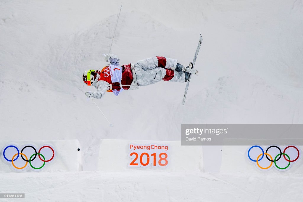 Moguls Skier Mikael Kingsbury of Canada trains ahead of the PyeongChang 2018 Winter Olympic Games at the Bokwang Phoenix Snow Park on February 6, 2018 in Pyeongchang-gun, South Korea.