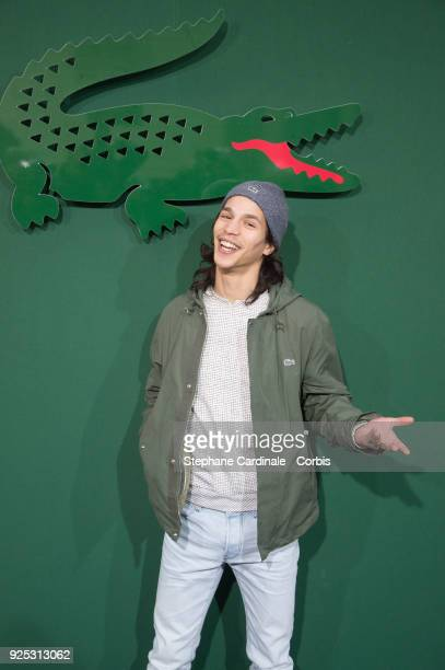 Moha La Squale attends the Lacoste show as part of the Paris Fashion Week Womenswear Fall/Winter 2018/2019 on February 28 2018 in Paris France