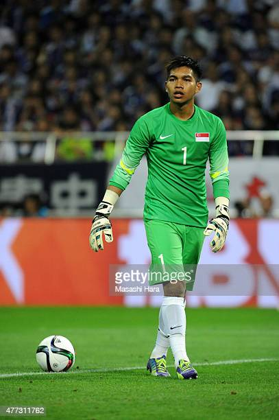 Mohamad Izwan Bin Mahbud of Singapore looks on during the 2018 FIFA World Cup Asian Qualifier second round match between Japan and Singapore at...