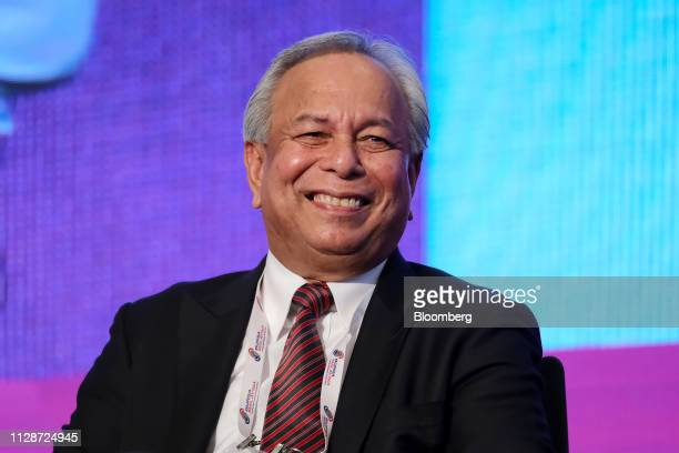Mohamad Nageeb Ahmad Abdul Wahab chief executive officer of the Malaysian Palm Oil Association reacts during the Palm Lauric Oils Price Outlook...