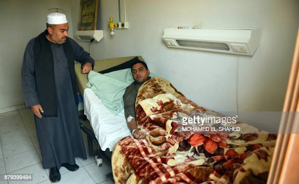 Mohamed Abdel Fattah the imam of alRawda mosque which was attacked by militants near the North Sinai provincial capital of ElArish receives treatment...
