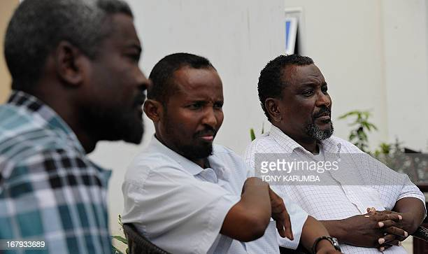 MARTELL == Mohamed Abdi Hassan one of Somalia's if not the world's most notorious pirate chiefs speaks on April 24 2013 during an interview in the...