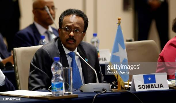 Mohamed Abdullahi Mohamed President of Somalia attends Intergovernmental Authority on Development Heads of state meeting in Addis Ababa, Ethiopia on...