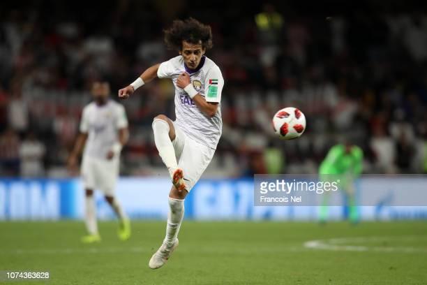 Mohamed Abdulrahman of Al Ain controls the ball during the FIFA Club World Cup UAE 2018 Semi Final Match between River Plate and Al Ain at Hazza Bin...