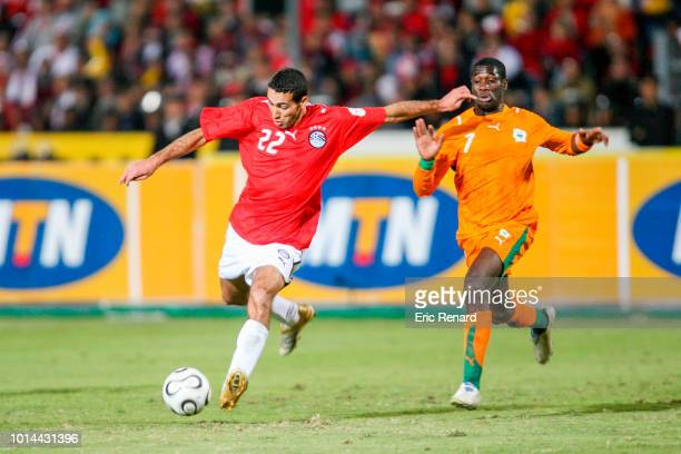 Mohamed Aboutrika of Egypt during the 2006 Africa Cup of Nations Final match between Egypt and Ivory Coast at Cairo International Stadium Egypt on...