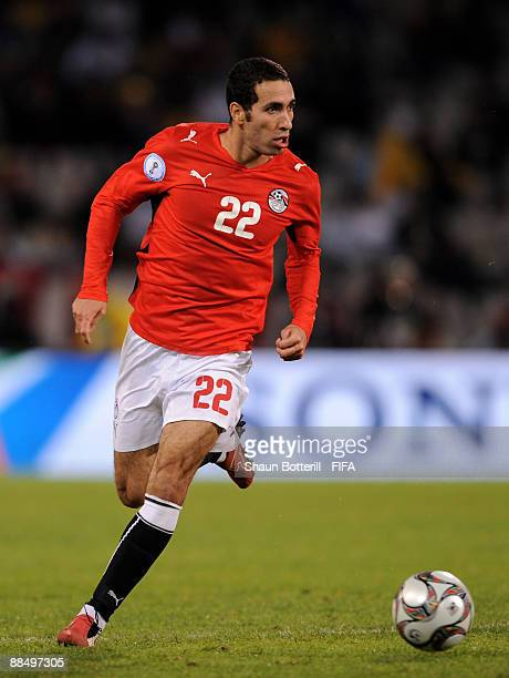Mohamed Aboutrika of Egypt during the FIFA Confederations Cup match between Brazil and Egypt at Free State Stadium on June 15 2009 in Bloemfontein...