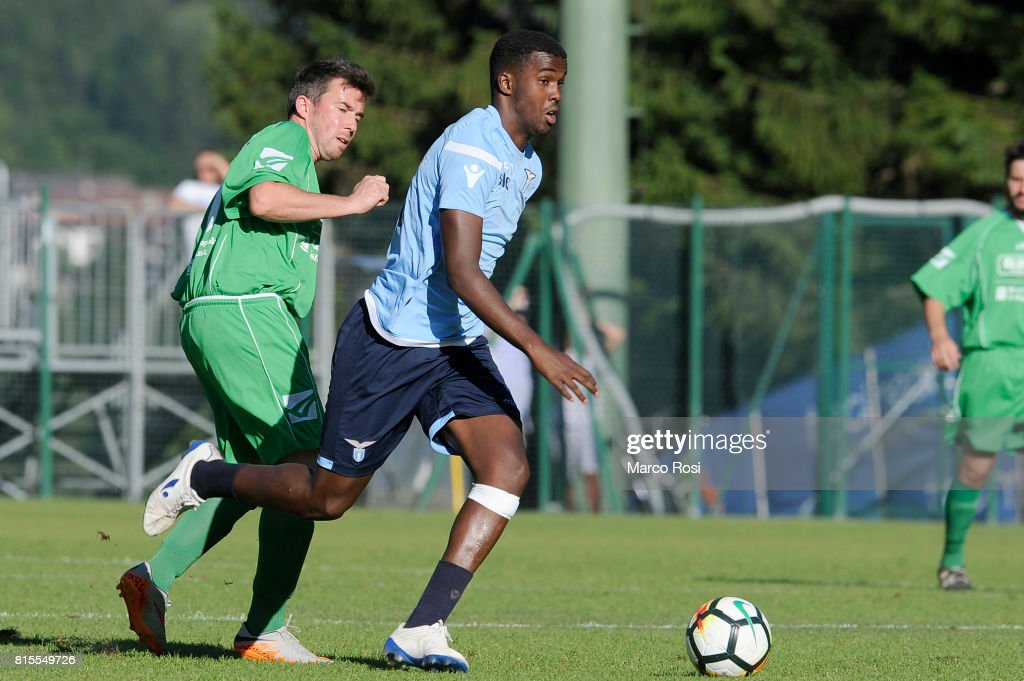 Mohamed Abukar of SS lazio in action during the Pre-Season Friendly match between SS Lazio and Reappresentativa Cadore on July 16, 2017 in Pieve di Cadore, Italy.