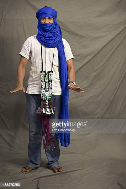 Mohamed Ahmed 32 years old from Agadez in Niger poses during SAFEM Salon international de l'artisanat pour la femme trade fair on December 07 2013 in...