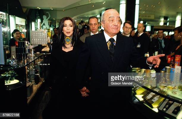 Mohamed Al Fayed and Cher at Harrods
