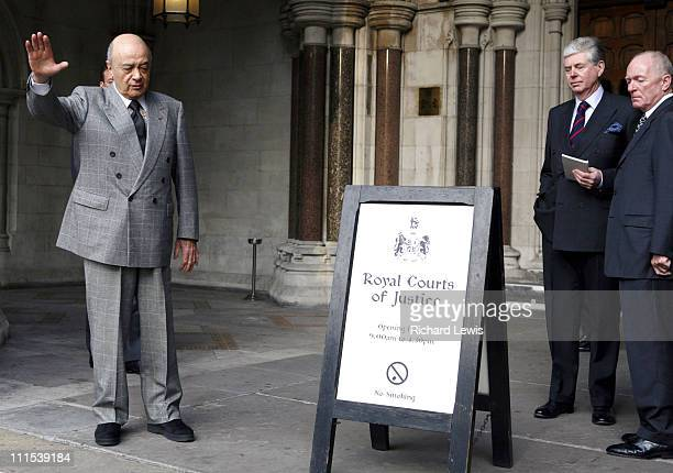 Mohamed al Fayed and Michael Cole during Diana Princess of Wales Inquest Hearing January 8 2007 at Royal Courts of justice in London United Kingdom