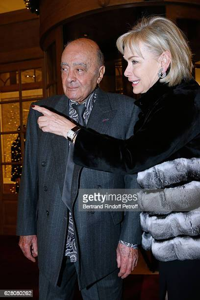 Mohamed AlFayed and his wife Heini Wathen attend the Chanel Collection des Metiers d'Art 2016/17 Paris Cosmopolite Photocall at Hotel Ritz on...