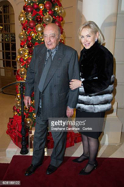 Mohamed AlFayed and his wife Heini Wathen attend the Chanel Collection des Metiers d'Art 2016/17 Paris Cosmopolite show on December 6 2016 in Paris...