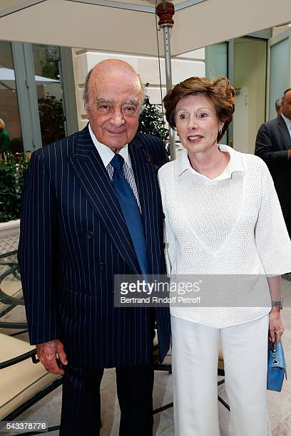 Mohamed AlFayed and MarieLouise de ClermontTonnerre attend the Colonne Vendome Is Unveiled After Restoration Works on June 27 2016 in Paris France