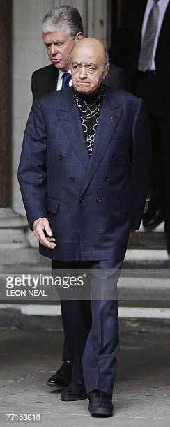 Mohamed AlFayed and press officer Michael Cole leave London's High Court 02 October 2007 as the formal inquest into the deaths of Princess Diana and...