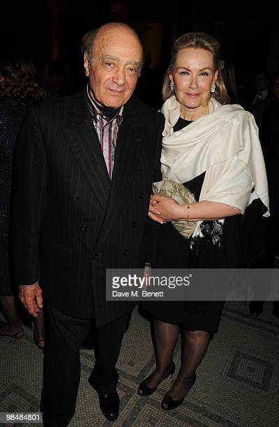 Mohamed AlFayed and wife Heini attend the private view of exhibition 'Grace Kelly Style Icon' at the Victoria Albert Museum on April 15 2010 in...
