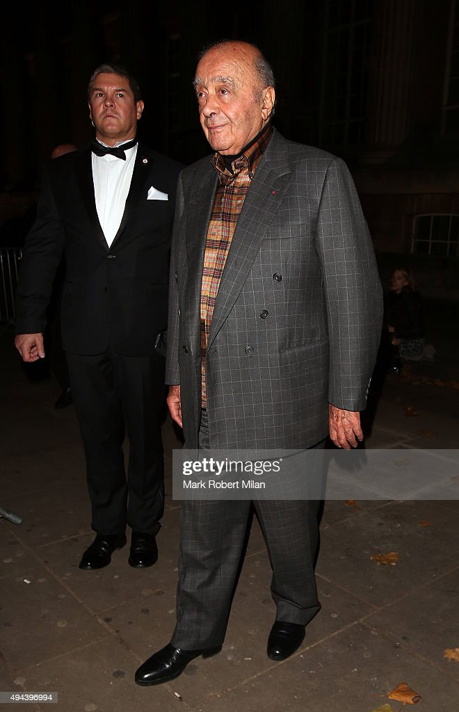 Mohamed Al-Fayed attending the Spectre Premiere after party at the British Museum on October 26, 2015 in London, England.