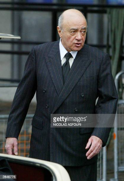 Mohamed alFayed leaves the opening of the first coroner's inquest in Britain into the death of Princess Diana and his son Dodi alFayed 06 January...