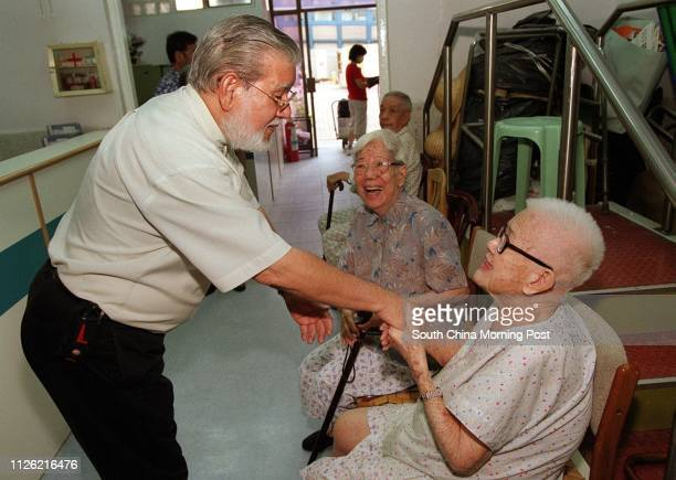 Mohamed Alli Din chairman of United Muslims Associaton of Hong Kong visits residents at a elderly home in Tuen Mun