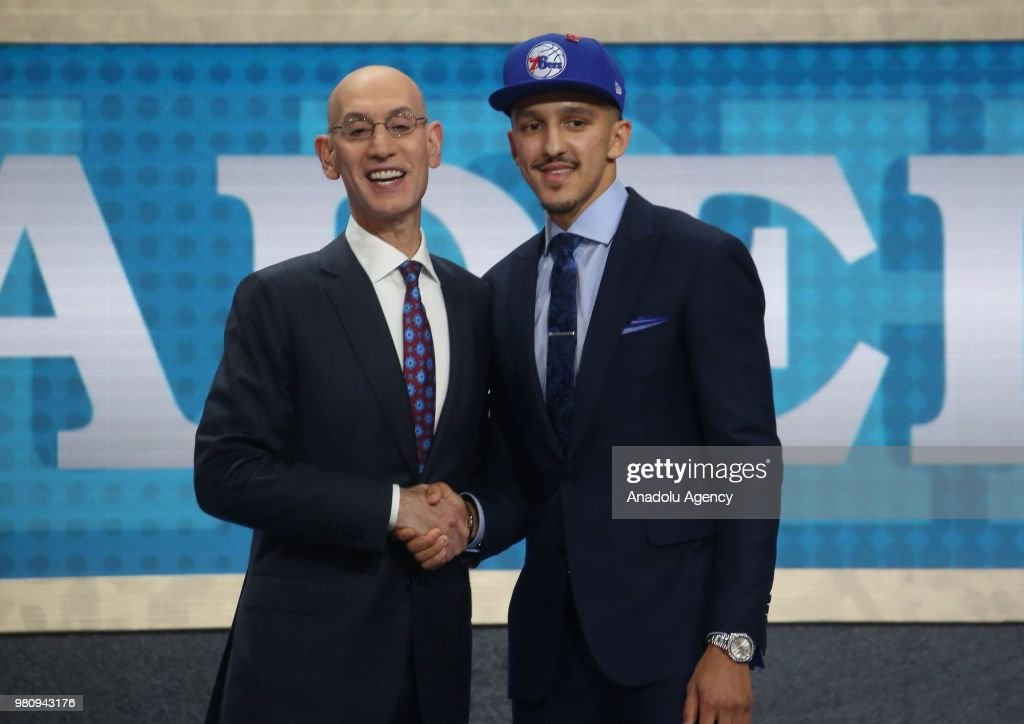 Mohamed Bamba is seen after being selected number twenty sixth overall by the Philadelphia Sixers during the 2018 NBA Draft in Barclays Center in New York, United States on June 21, 2018.