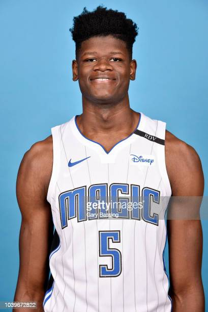 Mohamed Bamba of the Orlando Magic poses for a head shot during NBA Media Day on September 24 2018 at Amway Center in Orlando Florida NOTE TO USER...
