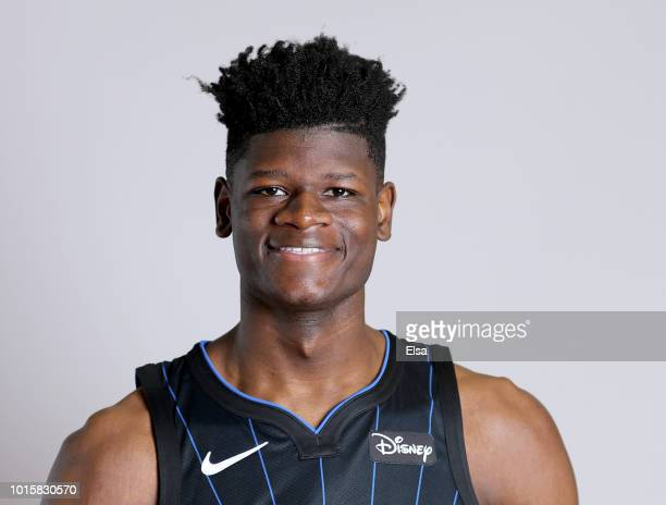 Mohamed Bamba of the Orlando Magic poses for a portrait during the 2018 NBA Rookie Photo Shoot at MSG Training Center on August 12 2018 in Tarrytown...