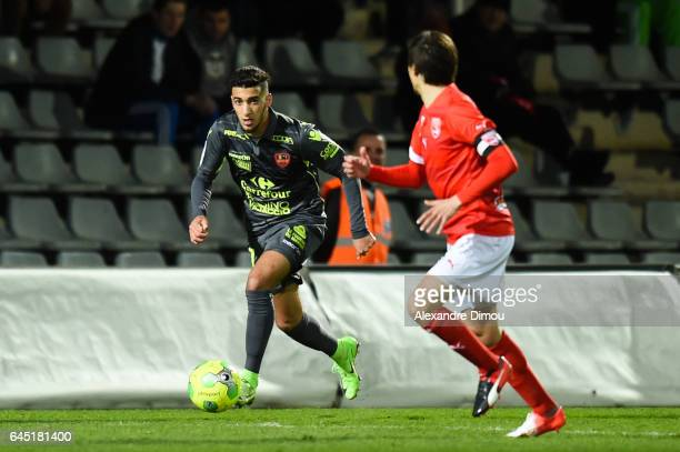 Mohamed Benrahma of Gazelec during the French Ligue 2 match between Nimes and Gazelec Ajaccio on February 24 2017 in France