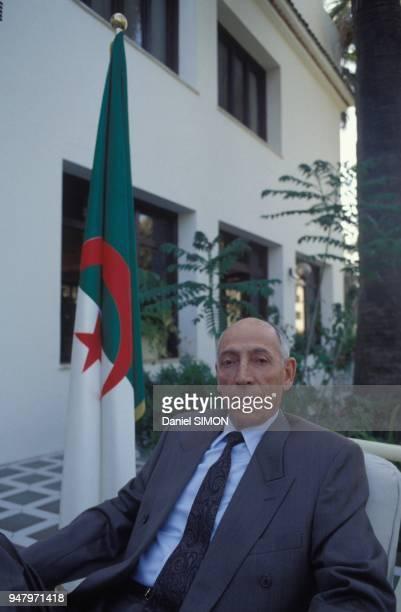 Mohamed Boudiaf president du Haut Comite d'Etat en charge provisoire des pouvoirs de chef de l'Etat algerien le 11 mai 1992 a Alger Algerie