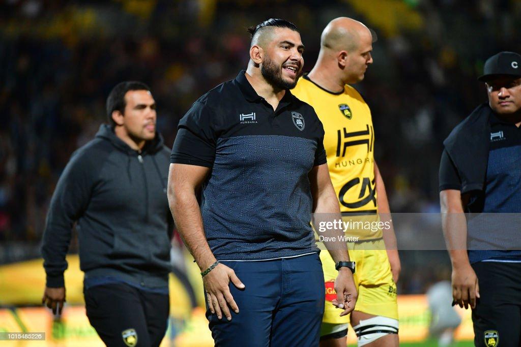 Mohamed Boughanmi of La Rochelle after the pre-season friendly match between La Rochelle and Stade Francais on August 10, 2018 in La Rochelle, France.
