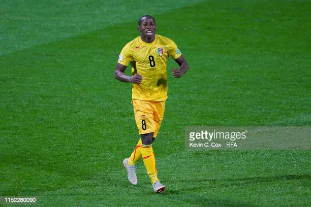 Mohamed Camara of Mali celebrates after scoring his team's fourth goal during the 2019 FIFA U-20 World Cup group E match between Saudi Arabia and...
