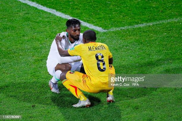 Mohamed Camara of Mali comforts Feras Albrikan of Saudi Arabia at the end of the 2019 FIFA U20 World Cup group E match between Saudi Arabia and Mali...