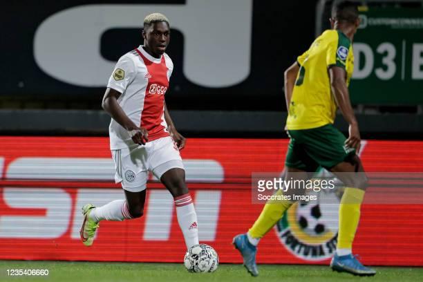 Mohamed Daramy of Ajax during the Dutch Eredivisie match between Fortuna Sittard v Ajax at the Fortuna Sittard Stadium on September 21, 2021 in...
