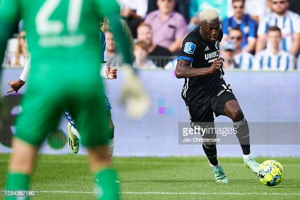 Mohamed Daramy of FC Copenhagen in action during the Danish 3F Superliga match between OB Odense and FC Copenhagen at Nature Energy Park on August...
